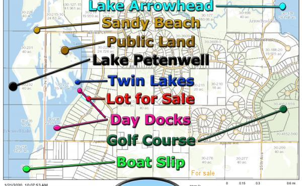 Twin Lakes Land for Sale & Boat Slip on Lake Petenwell